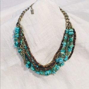 Kenneth Cole 8 Strand Turquoise Statement Necklace